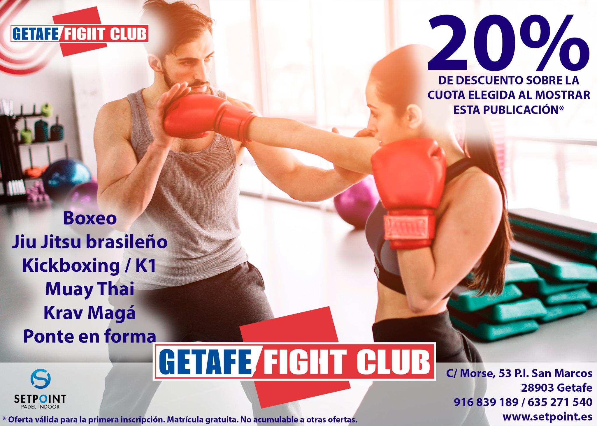 20% de descuento en Getafe Fight Club