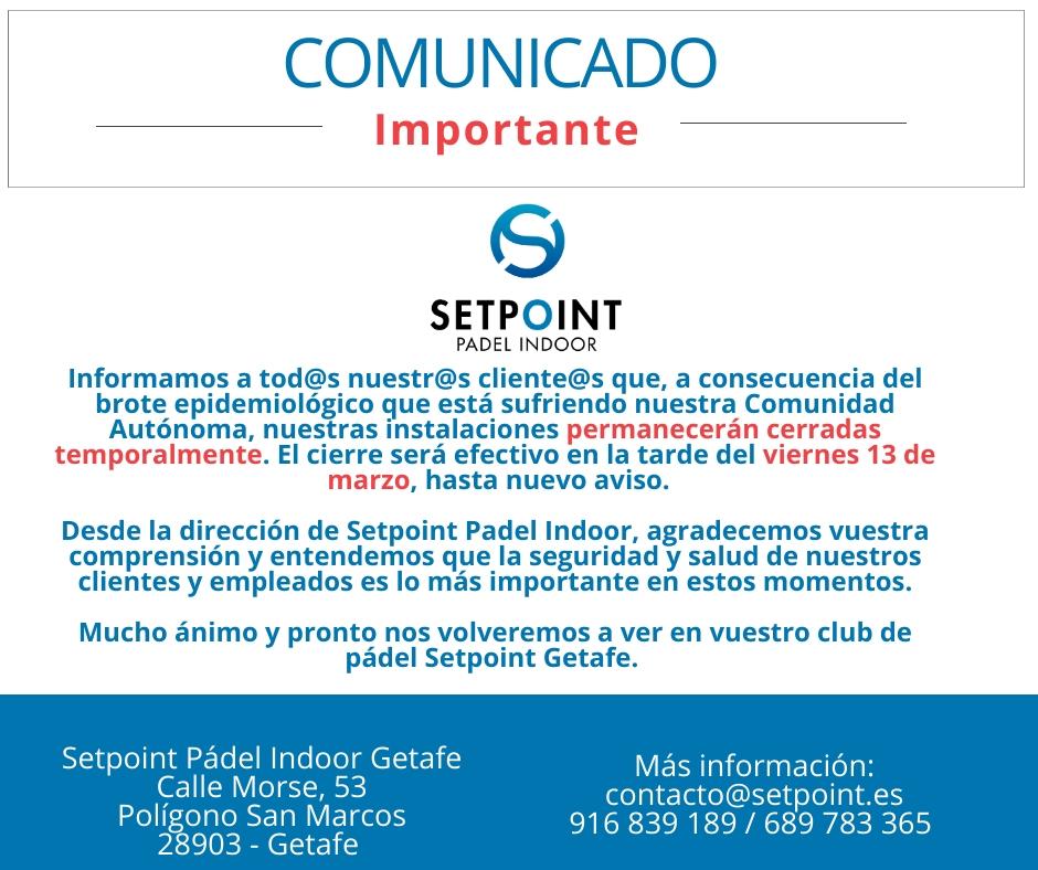 Comunicado Set Point