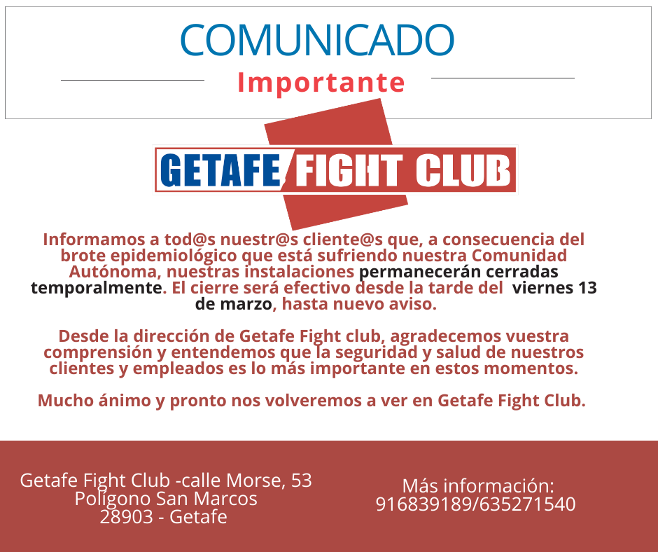 Comunicado Gefefe Fight Club