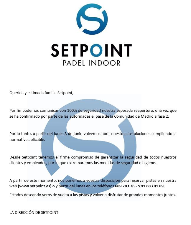 Abrimos Setpoint Getafe